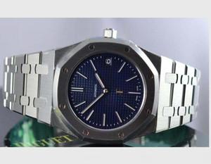 2020 Nueva versión ultra delgada 15202st.00.1240st.01 Azul 39mm Acero inoxidable Reloj automático Transparente Transparente Calidad superior