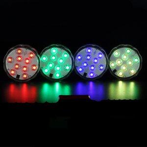 Nuevo acuario de colores LED luces de buceo sumergible Fish Tank Decorat Light Clear impermeable bajo el agua lámpara de vela electrónica