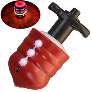 7 colori Fidget Spinner Giocattoli per bambini Musical Gyro Flash LED Light Colorato Spinning Imitazione Legno Gyro Glitter Music Light