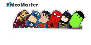 mucchio Automotive Interior Immagini Nuove Superheroes Amabili riflettenti autoadesivi dell'automobile capi Avengers Decorative Art Car VENDICATORI vinile fumetto ...