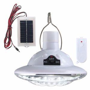 Outdoor 22 LED Solarbetriebene Yard Wanderzelt Licht Camping Hängelampe mit 3,7 V / 1 W Fernbedienung Reines weißes Sonnenkollektor
