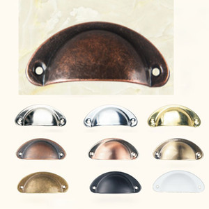 Vintage Cabinet Knobs and Handles Cupboard Door Cabinet Drawer Furniture Antique Shell Home Handles Pulls HH7-2041