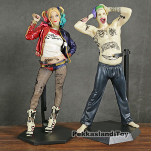 Crazy Toys Movie Suicide Squad Harley Quinn Joker Green Hair PVC Action Figures Baseball Bat Sexy Toys Christmas Gift With Box