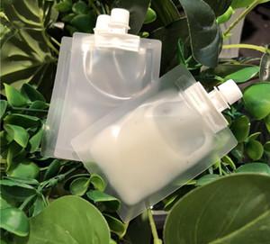 1000pcs 5ml muestra líquida de plástico Boquilla bolsa Translucence Crema Loción Embalaje de maquillaje de la bolsa para el cosmético de Premium Giveaway SN4391