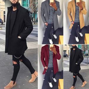 2019 Hiver hommes Manteau en laine Mode Veste Manteau Outwear Pardessus veste à manches longues hommes laine Casual Outdoor Taille M-3XL