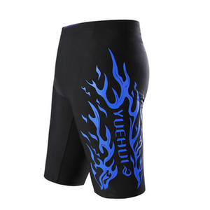 Fashion Men's trunks Swimming boys Trunks Swimwear Swim Shorts men Board Sports Wear Shorts Flame Pattern swimsuit beach wear family gift