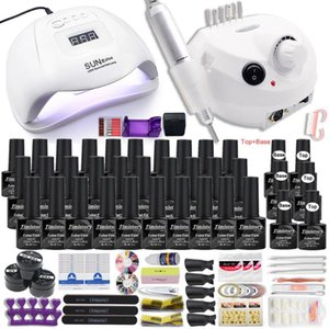 Manicure Set for Nail 30 20 10 Kind Nail Polish Kit with drill Machine lamp Acrylic Kit Art Tools Tool Set