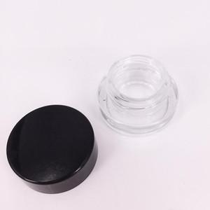 Glaswachsbehälter 5ml Food Grade freie runde Pyrex Glasgläser Wax Dab Vaporizer Jars Dry Herb Behälter-Speicher-E CIGS Zigarette