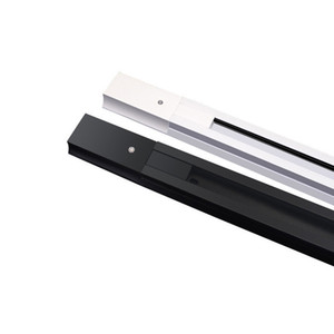 Aluminum Tracks 2-Wire 100cm Length Hard Article Orbit Strip Rigid Track Rail Bar Connector Included For LED Track Lighting