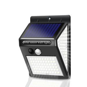 Sıcak satış 3mode 140 açık floresan floodlight hareket kablosuz sensör duvar dekorasyonu güneş emniyet lambası PIR su geçirmez enerji savi LED