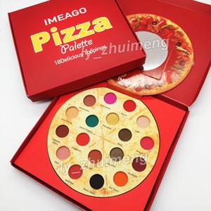 Новейшая IMEAGO Пицца Палитра теней для век 18 цветов макияжа Тени для век Вкусные начинки Матовые блестящие бронзеры ню Палитра Румяна