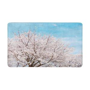 봄 나무 벚꽃 사쿠라 안티 - 슬립 도어 매트 홈 인테리어 실내 현관 도어 매트