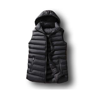 Erkek Kış Kolsuz Ceket Erkekler Aşağı Yelek Erkek Sıcak Kalın Kapüşonlu Mont Erkek Pamuk-Yastıklı Çalışma Yelek Gile Homme Yelek 6XL