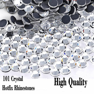 Crystal Clear DMC Hot Fix strass Flatback verre différentes tailles Hotfix strass Iron Party Dress nuit