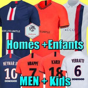 Maillots de football kit 19 20 maillot de foot PSG 2019 2020 MBAPPE ICARDI hommes shirt jersey Marquinhos enfants ensembles maillot de pied cavani
