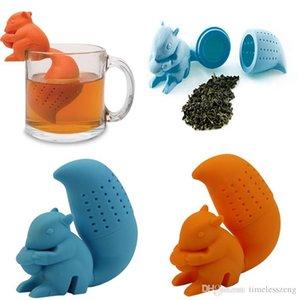 Netten Qualitäts-Eichhörnchen Teesieb Food Grade-Silikon-Lose-Blatt-Tee-Filter Diffusor Fun Tee-Zubehör