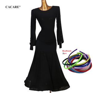Ballroom Dance Competition Dresses Waltz Dress Standard Dance Dresses Top Shirt Skirt Set Dancing Outfits D0459 Mesh Sleeve Big Hem