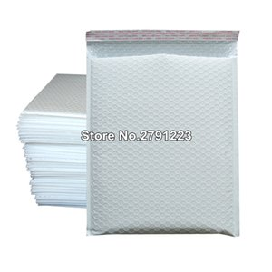 10 Pcs / Pack, 250 * 300m White Poly Plastic Bubble Envelope Mailer For Mailing