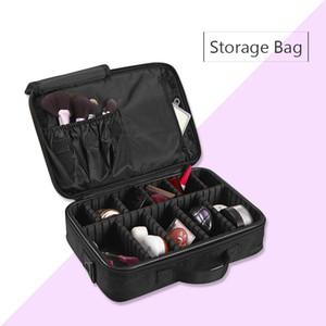 Самый популярный макияж кисти мешок случае макияж организатор туалетных принадлежностей сумка для хранения косметичка большой ногтей искусство ящик для инструментов с портативный