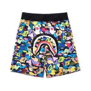Bape Mens шорты стилиста Шорты мужские Летняя мода Пляжные брюки Камуфляж Пинта летние мужские Женщины Сыпучие Короткие штаны 2 цвета M-2XL