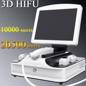 Transporte rápido 3D HIFU remoção do enrugamento da face máquina de levantamento 20500 tiros manual de 3d HIFU uso da máquina aprovados