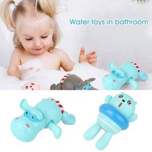 Pool Clockwork nuoto Ippopotamo Orso Ragazzi Ragazze Colourful Cartoon Baby Shower bacino bambini bagno giocattolo galleggiante ABS