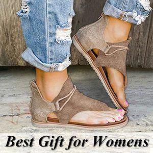 Kadınlar Sevimli Açık Toe için Floopi Sandalet Geniş Elastik Tasarım Yaz Sandalet Rahat Sahte Deri Bilek sapanlar W / Düz Sole Battaniyeler