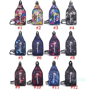 Женщины Мужчина Fany Champion пакета Фирменного Crossbody сумка Пояс талия обновление Мужская Грудь сумка на молнию Мода одно плеча сумка 12 цветов C102102