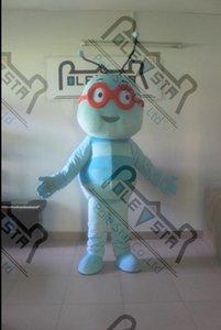blau Honigbiene kostümiert glückliches Gesicht Cartoon maya bee Fuß Schauspieler heißen Verkauf POLE STAR MASCOT KOSTÜME