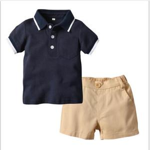 2019 nouveaux best-sellers T-shirt pour enfants de vêtements pour enfants Polo manches courtes pantalon court fabricant mis commandé un 70-130cm de remplacement