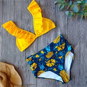 Sexy Vintage High Waisted Bikini 2020 Swimsuit Women Two Piece Ruffle Swimwear Bikini Set Plus Size Bathing Suits Summer XXL