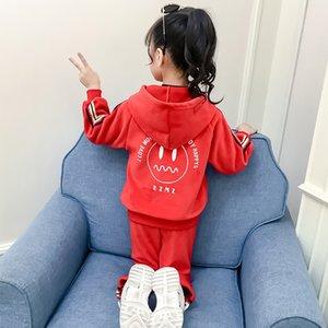 Ropa de moda de los niños marca de ropa juego de las muchachas de lujo Establece Smiley Patrón sistemas de dos piezas de deporte mantener caliente otoño 2020