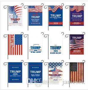 13 style Trump Garden Flags 30 x 45cm Outdoor Decorate USA President General Election Banner 2020 Trump Flag Pennant Banner dc584