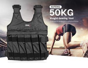 SUTENG CHALECO LASSTRADO 10KG / 50 kg Weight Weste Weste Gym Training einstellbar Boxen Training Weste Sanda Sparring Schutzjacke