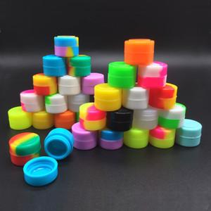 2 ml Silikon-Antihaft-Container Dab Jar für ein Konzentrat Wachsöl Silikon-Behälter 100 PC / Los