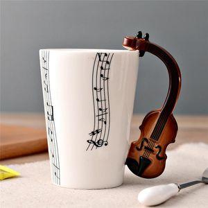 Caneca Lemon novidade guitarra Ceramic Cup personalidades da música Juice Nota Leite Café Tea Cup Home Office Copos Unique Gift