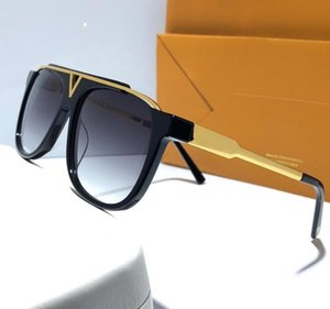 Evidence Luxury Millionaire Sunglasses Retro Vintage Men Designer Sunglasses Shiny Gold Summer Style Laser Logo Gold Plated Z0350W