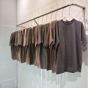 3 colores para hombre verano diseñador T Shirts Calle sólido de color season6 lavada camiseta de manga corta manera ocasional