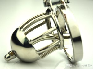 Keuschheitskäfig Kleine männliche Keuschheitsring mit abnehmbaren neuen Sounds Spiked für Edelstahl Super Device Harhethrrale Männer Q557 NRXEO