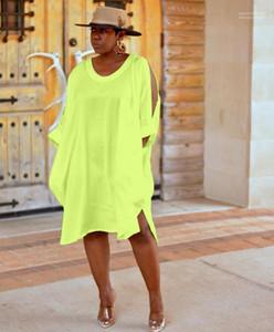 O-collo spiaggia donne del vestito solido di colore della caramella Vestido Summer Dress allentato casuale