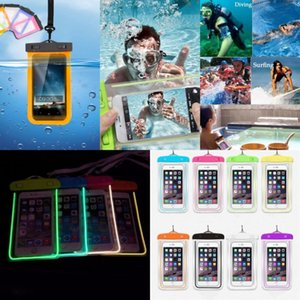 Luminous Glow Waterproof Underwater Pouch Dry Bag 3.5 inch -6 inch Universal Case Cover for Cell Phone