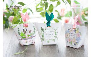Neue Europäische Grünen Baum Blätter Pralinenschachtel Hochzeit Gefälligkeiten und Geschenkbox Papiertüten Hochzeit Dekorationen Liefert Zuckerkästen