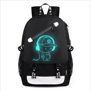 Designer- USB Charge Luminous Designer Backpack Men Students Bags Travel Computer Backpack Large capacity Shoulder Bag with Anti-theft Lock