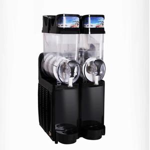 Máquina de fusión de nieve comercial 15L * 2 / máquina de doble aguanieve de tanque / Máquina de bebidas frías / Máquina de batidos de batidos / máquina de hielo Granita