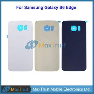 Top Quality For Samsung Galaxy S6 Edge G925 G9250 G925F Battery Cover Rear Back Housing Door With Adhesive 3 Color