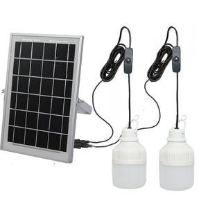 Солнечный Кулон проливают свет Солнечный Barn Солнечный Свет Главная Система освещения Kit с 2 лампы на открытом воздухе в помещении висит освещения