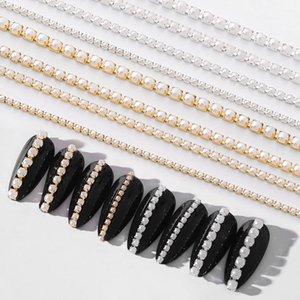 3D-Metall-Nagel-Kunst-Dekoration-Goldmetallkette Perlen Linie Multi-Größe Schlange-Knochen-DIY Maniküre-Nagel-Dekoration