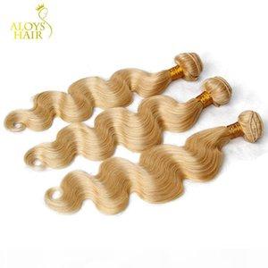 Bleach Platinum Blonde Peruvian Virgin Hair Extensions Body Wave Color #613 Peruvian Remy Human Hair Weave Wefts 3 4 Bundles Lot Tangle Free