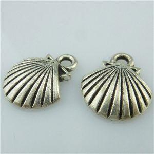 14677 35 STÜCKE Legierung Antikes Silber Ozean Shell Anhänger Charme Schmuck Modeschmuck Zubehör DIY Halskette Teil