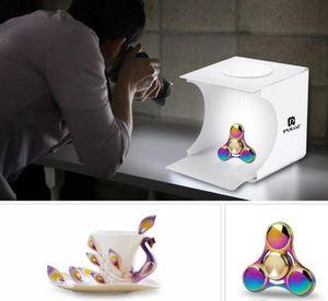 fundo da cor vermelha Mini Light Box Duplo LED Luz Quarto Photo Studio Fotografia Lighting Shooting Tent Fundo Cube Box Photo Studio